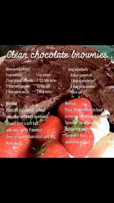 Healthy brownies!! :0  Don't ruin your success just enjoy the naughty mouth waters in a clean and positive way :)