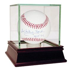 Steiner Sports Whitey Ford Signed Baseball with Hall of Fame Inscription - New York Yankees