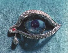The Eye of Time, 1949 Platinum, ruby and diamonds