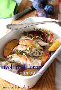 involtini di lonza e prugne by Profumi in cucina Food Styling, Chicken, Meat, Cubs, Kai