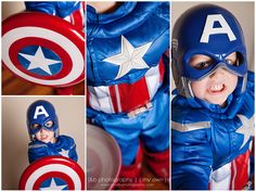 Little Boy - Captain America Costume - Avengers  This is adorable :P