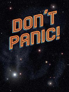 Dont Panic by Sarajea ART PRINT / LARGE (22 X 28) $45.00