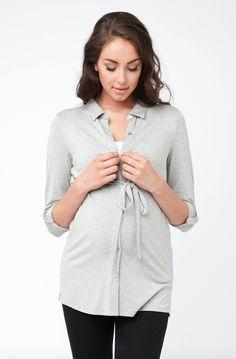 Jersey Nursing Shirt from Ella Bella Maternity Boutique Nursing Shirt, Nursing Tops, Nursing Clothes, Maternity Tops, Maternity Fashion, Maternity Boutique, Tank Top Shirt, Tank Tops, Breastfeeding Clothes