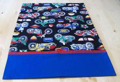 Motorcycle pillowcase with French seams by JamesRiverCrafts on Etsy