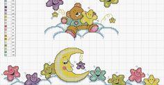 100%_ponto_cruz: Lua e eatrelas sorridentes