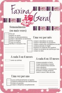 Faxina Geral: para imprimir e organizar a limpeza da casa Planners, Flylady, Personal Organizer, Pantry Organization, Home Hacks, Clean House, Casa Clean, Getting Organized, Keep It Cleaner