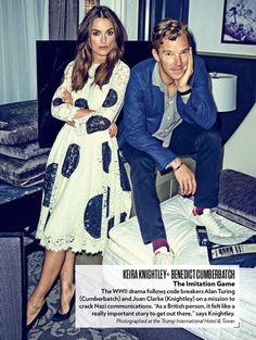 The publicity for The Imitation Game will be the death of me. I can't imagine how I'll see the movie itself. These two are so terribly perfect, and Turing's story is twice as powerful again.