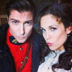 Daniel Lissing and Erin Krakow. Oh gosh they are so cute.