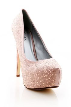 Moon Beam Platform Heels - Platform Heels at Pinkice.com #heels #pumps #highheels #platformheels #platforms #rhinestones #pinkice