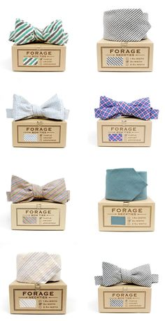 Lovely bow ties by Forage & pkging