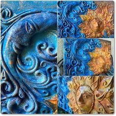 A Nap és a Hold találkozása meséje Hold, Nap, Handmade, Painting, Hand Made, Painting Art, Paintings, Painted Canvas, Drawings