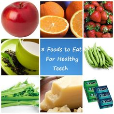 """8 Foods to Eat For Healthy Teeth & Gums"", from your pediatric dentist locator, Dentists 4 Kids. www.dentists4kids.com #Dentists4Kids #pediatric-dentist"