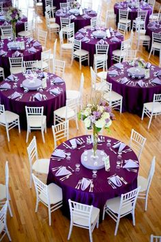 ↗️ 84 Awesome Purple Wedding theme Ideas : the Best Ways to Use Purple as the theme Of Your Wedding 6570 weddingthemes weddingdecor 770889661201199774 Wedding Reception Decorations, Wedding Themes, Wedding Bells, Trendy Wedding, Dream Wedding, Wedding Black, Purple And Silver Wedding, Lilac Wedding, Nautical Wedding