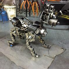 Mechanical dog by ferrerini mechanical art