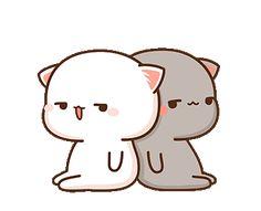 Anime photo gallery for couples, love avatar. Cute Anime Cat, Cute Bunny Cartoon, Cute Kawaii Animals, Cute Couple Cartoon, Cute Cartoon Pictures, Cute Love Pictures, Cute Love Cartoons, Cute Cat Gif, Cute Images