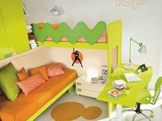 Le camerette doppie colorate