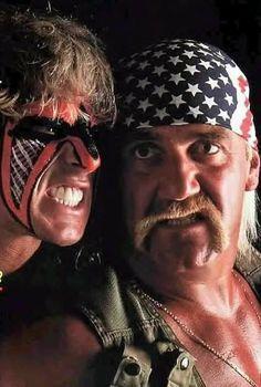 WWF legends Ultimate Warrior and Hulk Hogan Watch Wrestling, Wrestling Stars, Wrestling Wwe, Wwf Superstars, Wrestling Superstars, Catch, Best Wrestlers, Wwe Tna, Hulk Hogan