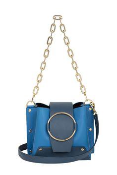 cc8206b7c1cc 465£ - Delila - Blue and Navy Bucket Bag