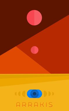 Dune: Arrakis art print by Gregism.