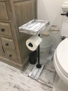 Toilet Paper Stand With Basket Shelf, Floor Stand TP Holder, Paper Dispenser, Rustic, Pipe Toilet Paper Holder, Industrial Stand, Wood Stand