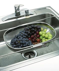 Take a look at this Expandable Stainless Steel Over-the-Sink Colander by Norpro on #zulily today!