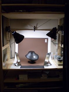 Here's an image of my new photography set-up that I use to take product images of my pottery, jewelry and buttons. I use 'Daylight' light . Photography Set Up, Jewelry Photography, Product Photography, Photography Lighting, Photo Lighting, Commercial Photography, Etsy Business, Craft Business, Creative Business