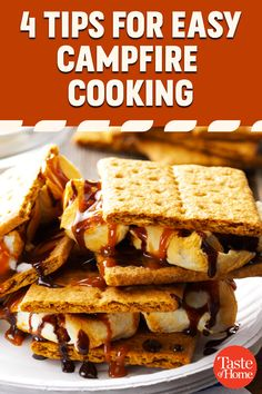 There's nothing like easy camping meals when you're hungry and out in the fresh air! These practical tips will whet your appetite for a trip. Best Camping Meals, Camping Recipes, Pudgy Pie, Campfire Food, Campfires, Bratwurst, Slice Of Bread, Outdoor Cooking, Graham Crackers