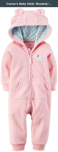 Carter's Baby Girls' Hooded/Eared Romper (Baby) - Elephant - 6 Months. Carter's HoodedEared Romper (Baby) - Elephant Carter's is the leading brand of children's clothing gifts and accessories in America selling more than 10 products for every child born in the U.S. Their designs are based on a heritage of quality and innovation that has earned them the trust of generations of families. Features Zip front design. Ribbed cuffs. 3D ears. Cotton rib hood lining. Character applique art.