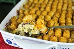 Cheese Curd In Paradise: Chicken Bacon Ranch Tot Casserole