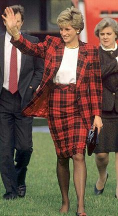 October, 1990: Princess Diana, Anne Beckwith Smith and Graham Smith-Royal protection officer, Tenderden, Kent, England
