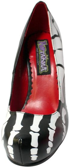 PLEASER SKELETON FOOT HEELS - Shoes - Gals  LOL! Love it! Even if my knee would refuse to let me wear this. :)
