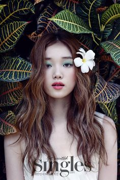 Lee Sung Kyung shows her stuning beauty as a bride in wedding pictorial for Singles - Latest K-pop News - K-pop News Korean Actresses, Korean Actors, Female Actresses, Lee Sung Kyung Wallpaper, Lee Sung Kyung Fashion, Lee Sung Kyung Makeup, Korean Magazine, Weightlifting Fairy Kim Bok Joo, Joo Hyuk
