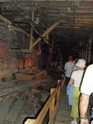 Seattle Underground Tour. Very interesting and the night time tour included free drinks at the end.