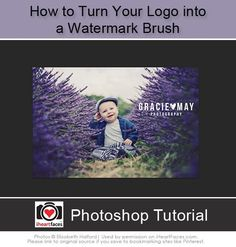 How To Turn Your Logo into a Watermark Brush. Easy Photoshop Tutorial! at iHeartFaces.com