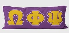 Omega Psi Phi Body Pillow Cover - Designs by Dee's Hands  - 1