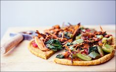 vegan gluten-free sweet potato pizza crust