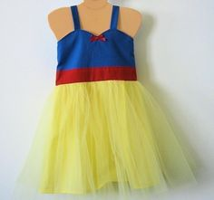 SNOW WHITE inspired Tutu Dress ....retro sewn tulle dress toddlers girls special occasion princess birthday tea party costume