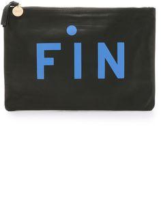 Clare V. Fin Supreme Flat Clutch