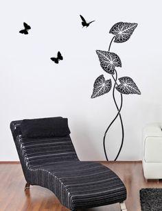 Tropical Plant Wall Stencil