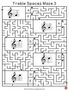 Music lessons for kids: Music Notes: Treble Pitch Music Games: 36 Maze Puzzles Bundle Music Theory Games, Music Theory Worksheets, Music Games, Music Lessons For Kids, Kids Music, Art Lessons, Space Music, Maze Puzzles, Piano Teaching