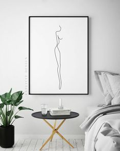 Abstract One-Line Feminine Figure Printable, Minimalist Nude Woman Body Profile Art, Naked Prints, Illustration Poster, Fine Digital Print. by ExplicitDesign on Etsy https://www.etsy.com/listing/562920029/abstract-one-line-feminine-figure