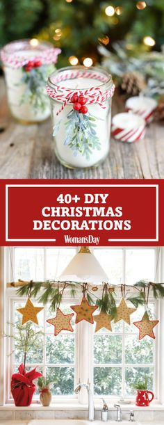 Spruce up your home for the season with these decorative homemade holiday pieces—they'll trim your tree, deck your halls and so much more. Cut freehand stars out of cardboard to make DIY Window Swag! Poke cloves through one star for a natural air freshener to keep the winter scents at your holiday parties!