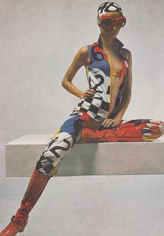 Mouche in Vogue UK April 1969 by Guy Bourdin