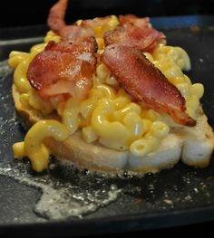 Grilled Mac and Cheese with Bacon, yes it's super bad for you but I also think it's worth a try :)