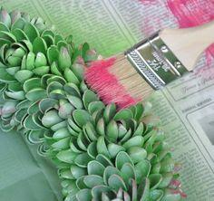 Faux-Succulent & Pistachio Nut Wreaths