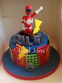 Power rangers cake Bolo Power Rangers, Power Rangers Birthday Cake, Power Ranger Cake, Pawer Rangers, Cupcakes, Cupcake Cakes, Tmnt Cake, Baby Cake Topper, Character Cakes