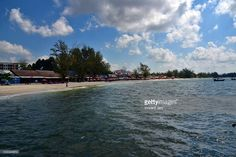 Seascape Sihanoukville beach with hotels and restaura,ts, Cambodia, Asia.  #getty #gettyimages #purchase #moment #rf #photo #photograph #photography #koh #rong #kohrong