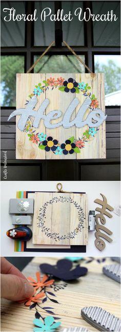 DIY Floral Pallet Door Hanger