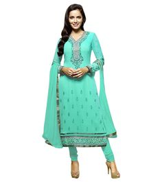 Naksh - Aqua Green Straight Salwar suit