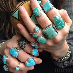 All turquoise...